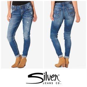 Silver Suki Super Stretch Girlfriend Skinny👖